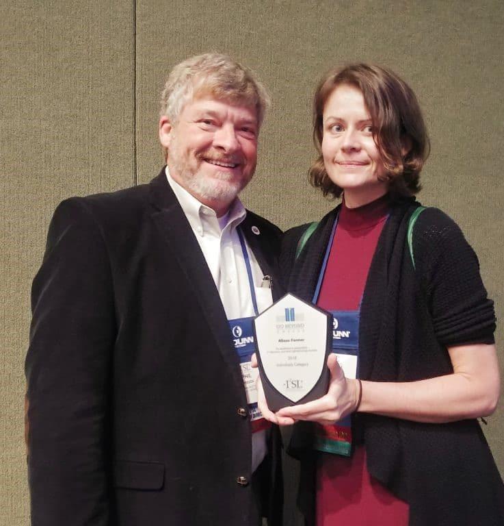 Alison Farmer I2SL sustainable lab award