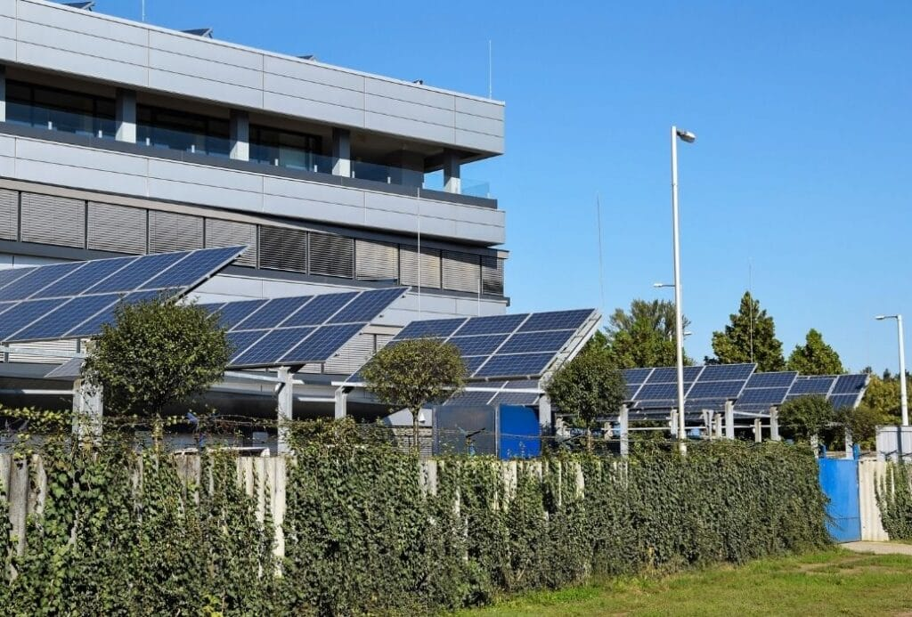 office solar panels zero net carbon buildings energy efficiency kw engineering