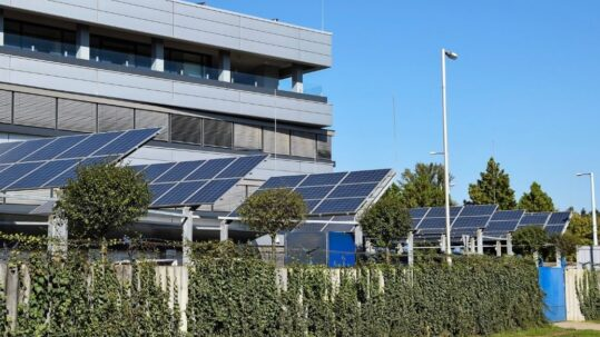 office solar panels zero net carbon buildings energy efficiency kw engineering