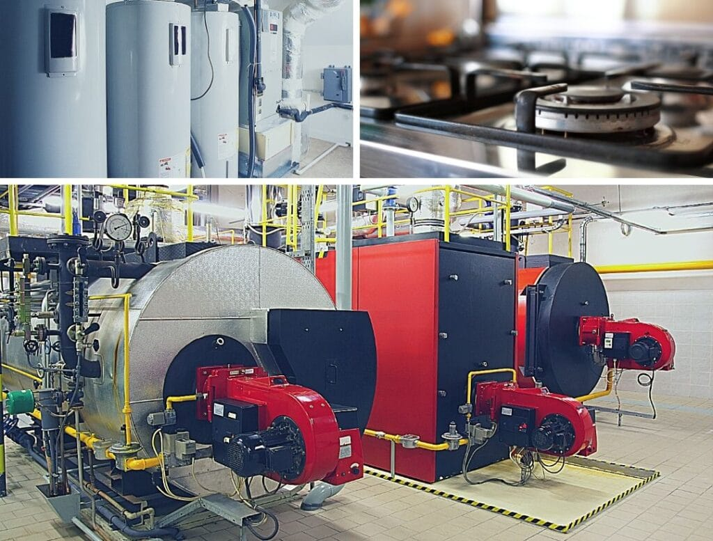 gas consuming commercial building electrification identify gas heater kw engineering